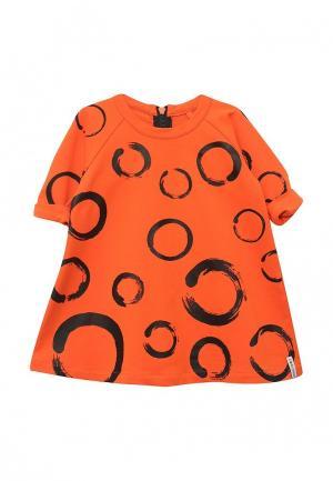 Платье COOCKOO. Цвет: оранжевый