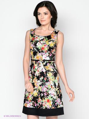 Платье Vis-a-vis. Цвет: черный, фиолетовый, желтый