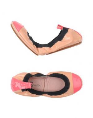 Балетки YOSI SAMRA. Цвет: лососево-розовый