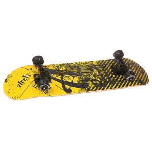 Скейтборд в сборе  Danger Beat Black/Yellow 31 x 8 (20.3 см) Fun4U. Цвет: черный,желтый