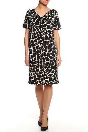 Платье SEVENTY. Цвет: бежево-черный