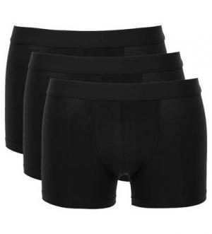 Комплект из трех хлопковых трусов-шорт Bread&Boxers. Цвет: черный