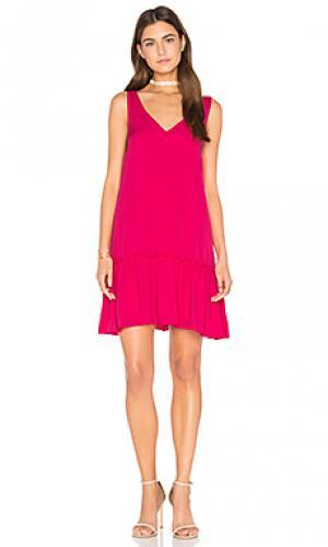 Платье bloom Amanda Uprichard. Цвет: розовый