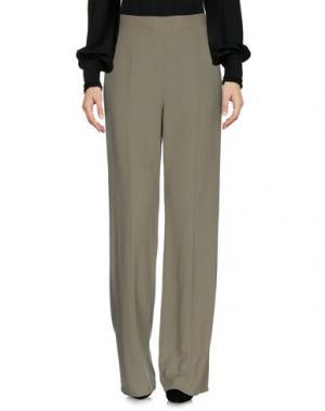 Повседневные брюки EQUIPMENT FEMME. Цвет: зеленый-милитари