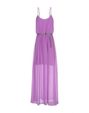 Длинное платье GUESS. Цвет: светло-фиолетовый