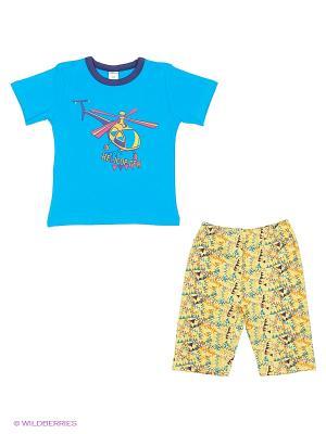 Пижама Модамини. Цвет: синий, желтый