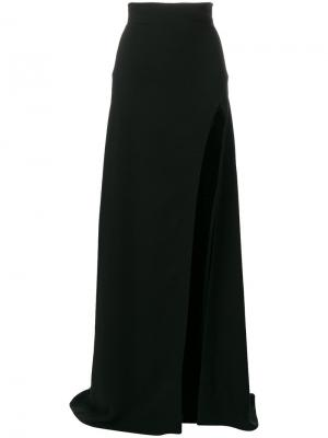 Длинная юбка с разрезом Plein Sud. Цвет: чёрный