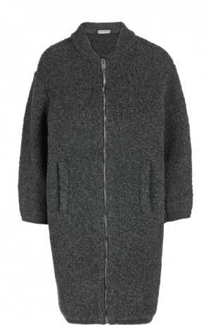 Пальто вязаное Balenciaga. Цвет: серый
