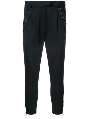 Зауженные брюки с заклепками Thomas Wylde. Цвет: чёрный