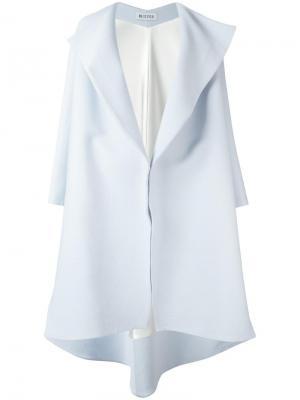 Открытое пальто свободного кроя Maticevski. Цвет: синий