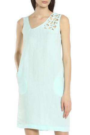 Яркое платье на каждый день Oblique. Цвет: голубой