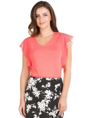 Блузка Femme. Цвет: коралловый