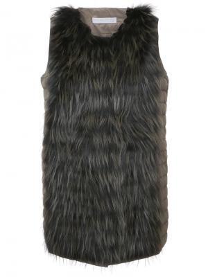 Меховой жилет Fabiana Filippi. Цвет: коричневый