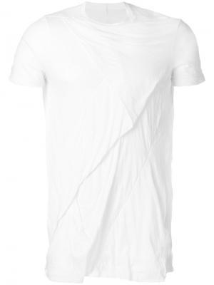 Драпированная футболка Rick Owens DRKSHDW. Цвет: белый