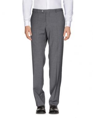 Повседневные брюки J.W. TABACCHI. Цвет: свинцово-серый