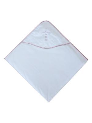 Крестильная пеленка с уголком Дашенька. Цвет: розовый