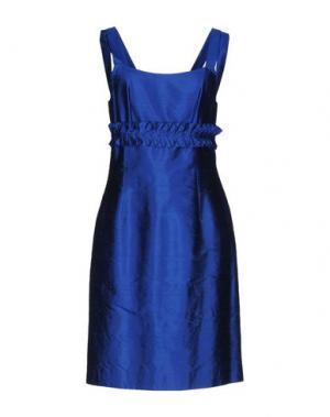Короткое платье FABRIZIO LENZI. Цвет: синий