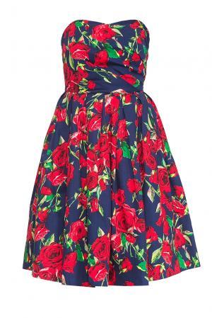 Платье из хлопка 167856 Paola Morena. Цвет: разноцветный