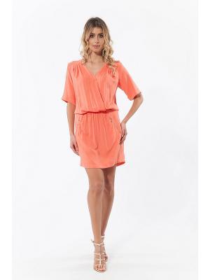 Платье RELAX MODE. Цвет: коралловый