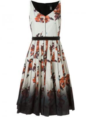 Платье с цветочным принтом Marc Jacobs. Цвет: телесный