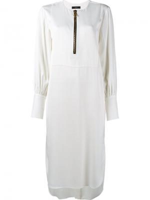 Платье миди с застежкой-молнией спереди Ellery. Цвет: телесный