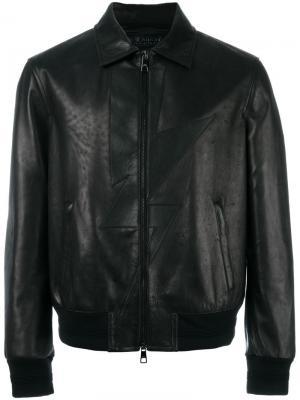 Куртка с аппликацией молнии Neil Barrett. Цвет: чёрный