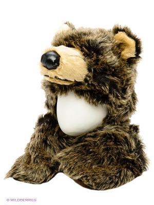 Шапка True Fur. Цвет: коричневый, бежевый