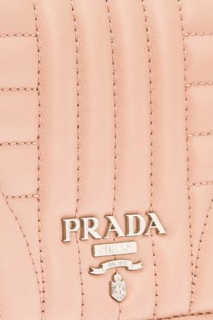 Бежевый кожаный чехол для iPhone Prada. Цвет: бежевый