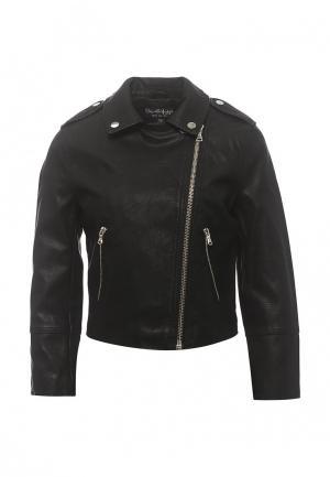 Куртка кожаная Miss Selfridge. Цвет: черный