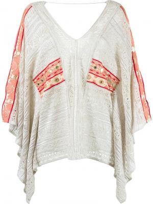 Knitted kaftan Cecilia Prado. Цвет: телесный