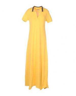 Длинное платье AKEP. Цвет: желтый