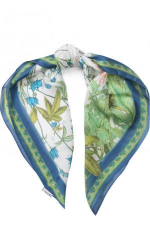 Шелковый платок с принтом Il Trenino. Цвет: зеленый