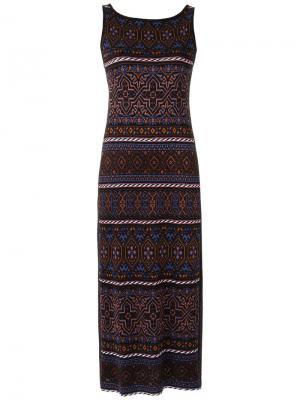 Трикотажное платье миди Cecilia Prado. Цвет: многоцветный