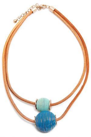 Колье Boho Chic. Цвет: синий, бирюзовый, коричневый
