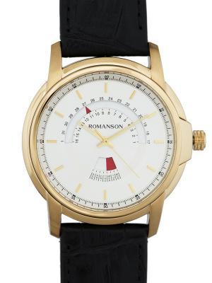 Часы TL6A21CM Romanson. Цвет: черный, золотистый