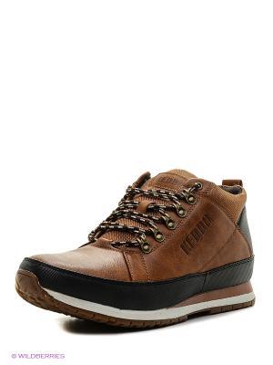 Ботинки KEDDO. Цвет: темно-коричневый, черный