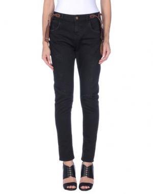 Джинсовые брюки MANILA GRACE DENIM. Цвет: черный