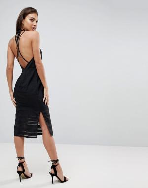 Finders Keepers Платье-футляр с открытой спиной Brixton. Цвет: черный