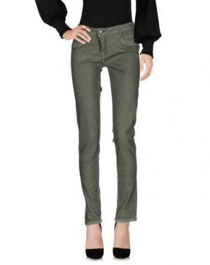 Повседневные брюки BLEULAB. Цвет: зеленый-милитари