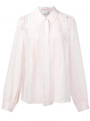 Кружевная рубашка Tanya Taylor. Цвет: телесный