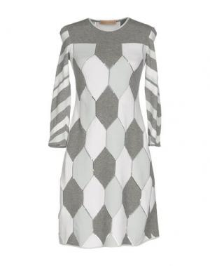 Короткое платье VICEDOMINI. Цвет: светло-серый
