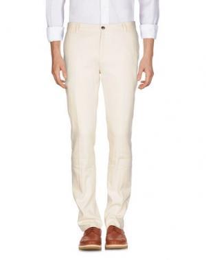 Повседневные брюки JOHN VARVATOS. Цвет: слоновая кость