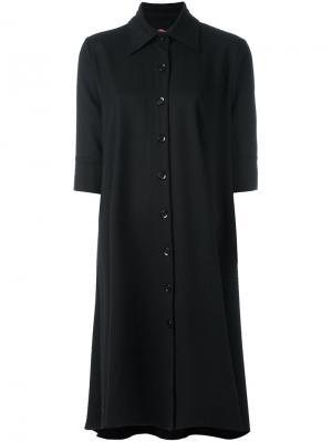 Драпированное платье с классическим воротником Ultràchic. Цвет: чёрный