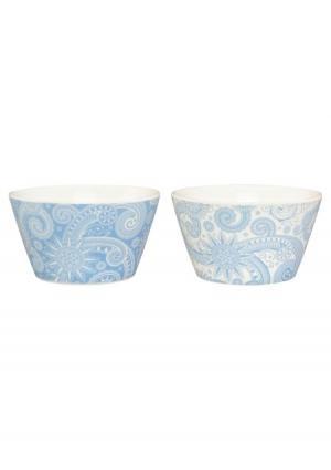 Набор салатников (2 шт.) Elan Gallery. Цвет: белый (белый/голубой)