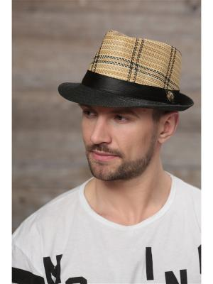 Шляпа Krife. Цвет: бежевый,черный
