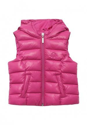 Жилет утепленный United Colors of Benetton. Цвет: розовый