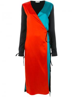Платье колор блок Attico. Цвет: чёрный