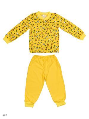 Пижамы КВК. Цвет: желтый