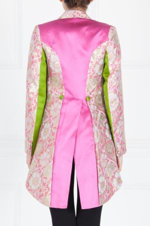 Шелковый жакет Duro Olowu. Цвет: розовый