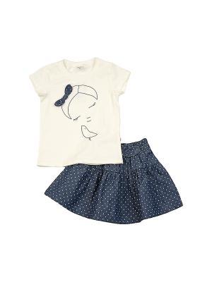 Комплект одежды Mini Maxi. Цвет: синий